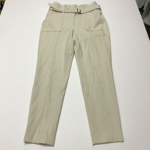 WHBM Twill Cargo Tapered Ankle Casual Pant Trouser